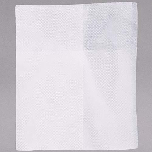 Full Tabletop Fold Dispenser Napkin - TableTop King D1217 White Off-Fold Full-Fold 9 1/2