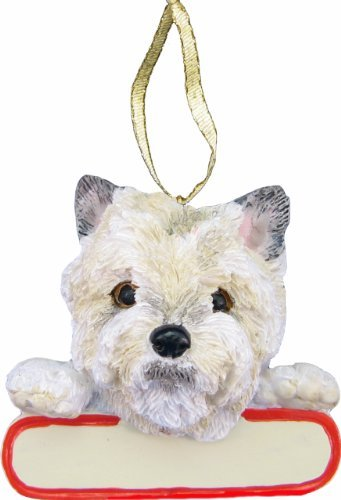 E&S Pets Cairn Terrier Ornament Santa's Pals with Personalized Name Plate A Great Gift for Cairn Terrier Lovers
