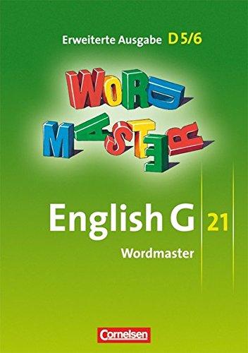 English G 21 - Erweiterte Ausgabe D: Band 5/6: 9./10. Schuljahr - Wordmaster: Vokabellernbuch