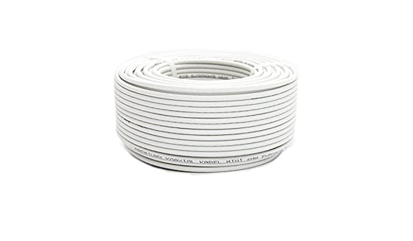 Cable coaxial SAT (50 m, 90 Db 4 mm PremiumX FullHD 3d hdtv): Amazon.es: Electrónica