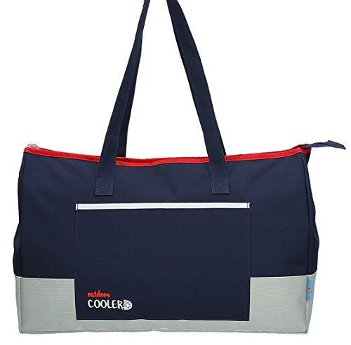 CB Cooler Bolsa de Tela y de Playa, 48 cm, Azul marino