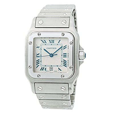 Cartier Santos Galbee Quartz Male Watch 1564 (Certified Pre-Owned) by Cartier