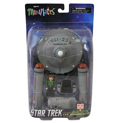 Star Trek: Original Series Minimates Trouble with Tribbles U.S.S. Enterprise NCC-1701 with Captian Kirk Mini Figure Set