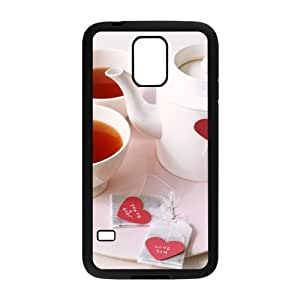 Afternoon Tea Brand New Cover Case with Hard Shell Protection for SamSung Galaxy S5 I9600 Case lxa#411650