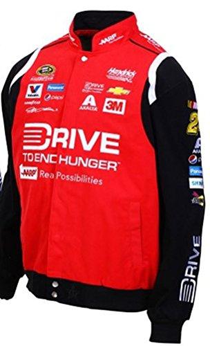 2015 Jeff Gordon Drive to End Hunger Mens Black Twill Nascar Jacket by JH Design (L)