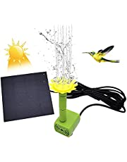 LionRoar Solar Fountain with Panel Water Pump, 1.5W 9 Nozzles for Different Water Styles, Bird Bath Solar Panel Kit Outdoor Fountain for Outdoor Small Pond, Patio Garden and Fish Tank
