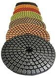 "STADEA Premium Grade Wet 3"" Diamond Polishing Pads Set For GRANITE MARBLE STONE Polish"