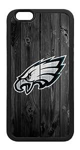 iPhone 6 Case, Philadelphia Eagles Plastic Back Cover Black TPU Rubber Bumper Hybrid Case for iPhone 6 4.7 Inch
