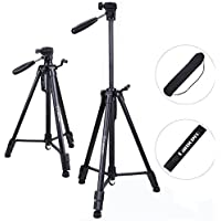 Camera Tripod - Camopro 62 Inches Lightweight Aluminum Alloy Portable Travel Tripod with Carry Bag for SLR DSLR Camcorder Camera Video - Tripod