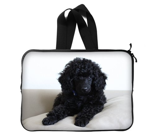 Black Miniature Toy Poodle Custom Laptop Sleeve Cover Laptop Bags 14