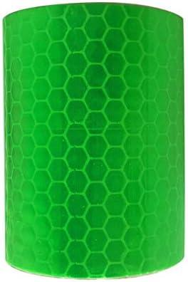 3 m Marca de Seguridad Pegatinas Reflectantes de Cinta autoadhesiva Cinta de Advertencia de pel/ícula Verde SEN 5 cm