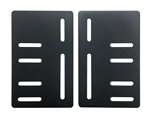 Kings Brand Bed Frame Headboard Bracket Modification Modi-Plate ~Set of 2 Plates~ ()