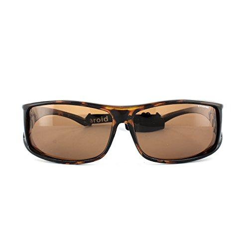 078ae97fc0 outlet Polaroid Suncovers Fitover Sunglasses P8901 0BM HE Havana Copper  Polarized