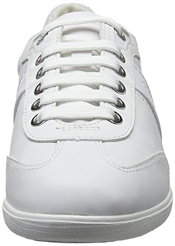 Geox White Myria 9 D A Womens Shoes Trainers Leather 0FqH05rnpw