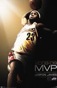 (22x34) Lebron James (2008-09 MVP) Sports Poster Print