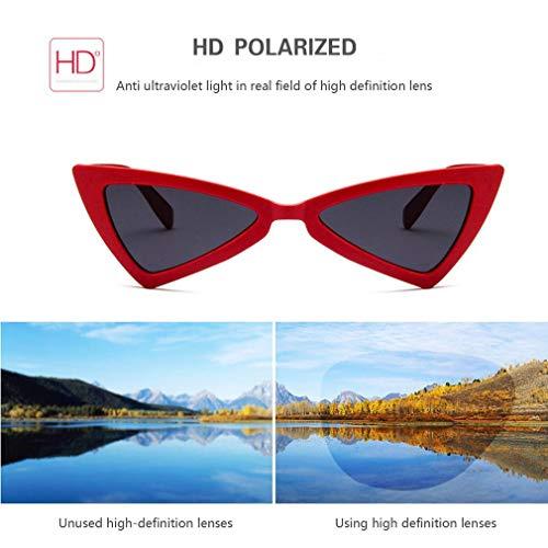 Glasses Eyewear Sunglasses Cat Travel UV400 Lens Sunglasses Eye Triangle Women xqX1z6F