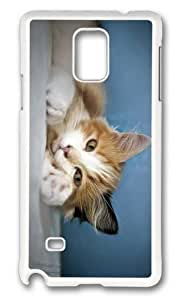 Adorable cat comfort Hard Case Protective Shell Cell Phone For Case Samsung Galaxy Note 2 N7100 Cover - PC White