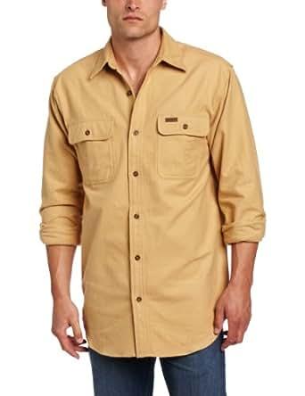 Carhartt Men's Chamois Shirt Long Sleeve Button Front Original Fit,Worn Brown,X-Large
