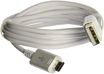 SAMSUNG USB/microUSB 0.9m Micro-USB A USB A Macho Macho Blanco: Amazon.es: Electrónica