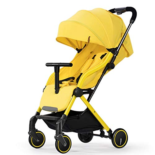 $227.06 Target Infant Car Seats Umbrella Stroller Lightweight and Compact Fold Pram Baby Carriage Reclining Seat for Airplane Compartment, Yellow 2019