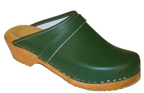 Toffeln - Sabots en cuir - semelle hêtre - Toffeln 310 - Vert - taille 36