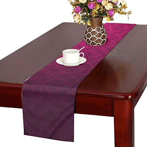XINGCHENSS Minimalistic Pink Patterns Dev X Wallpaper Table Runner, Kitchen Dining Table Runner 16 X 72 Inch for Dinner Parties, Events, Decor
