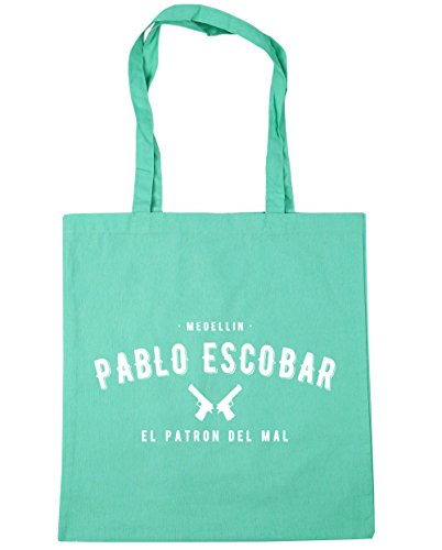 HippoWarehouse Pablo Escobar el patron del mal Tote Compras Bolsa de playa 42cm x38cm, 10litros verde menta