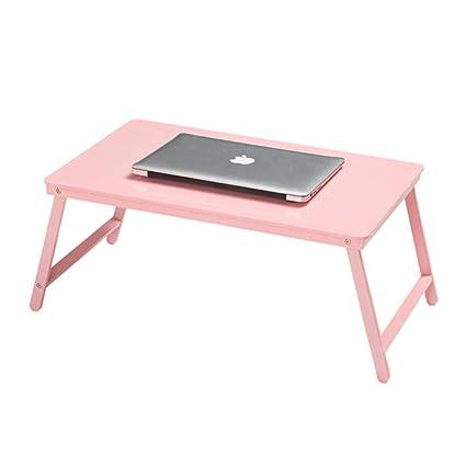 DS ⓇRefrigerador del cuaderno Mesa plegable - Mesa de la cama del ordenador portátil,