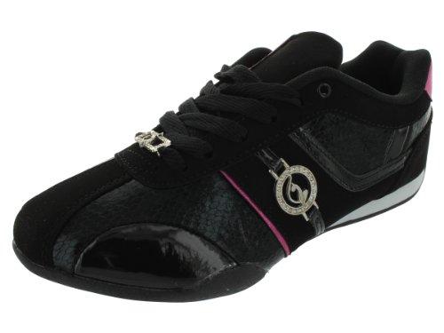 Baby Phat Hayden Women's Fashion Sneakers (6, Black / Fuc...