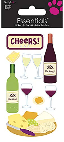 Sandy Lion Wine & Cheese Essentials Sticker