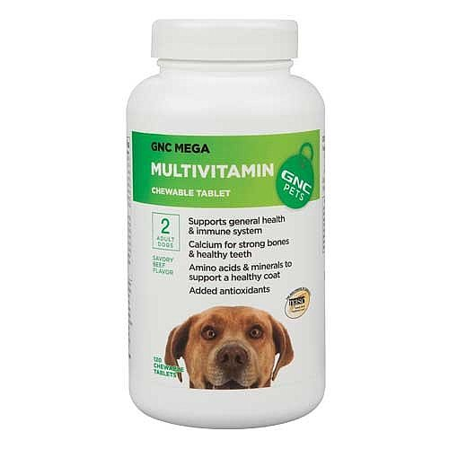 GNC Pets Mega Multivitamin for Adult Dogs - Beef Flavor 120 Tablets