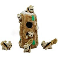 Hide a Squirrel Fun Hide and Seek 7-Piece Interactive Puzzle Plush Dog Toy