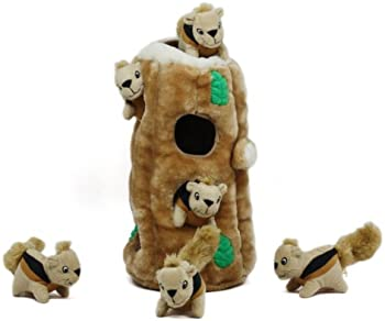 Hide a Squirrel 7 Pc. Interactive Puzzle Plush Dog Toy