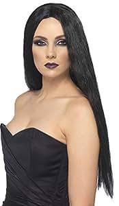 Smiffy's - Peluca negra de bruja para mujer, ideal para Halloween