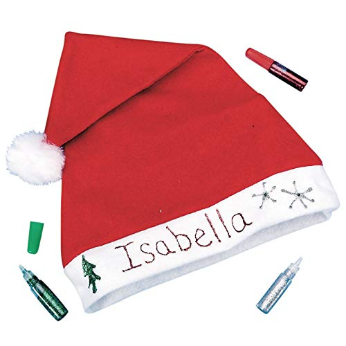 (S&S Worldwide Holiday Santa Hat Craft Kit (Pack of 12))