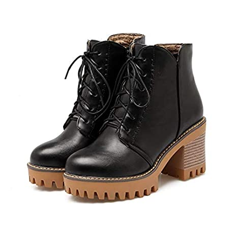 2ebec33596d81 Amazon.com: HuWang Autumn Winter Arrive Women Boots Black Brown Gray ...