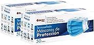 Best Trading Cubrebocas, Tapabocas Calidad Premium, Azul Termosellado con 3 Capas de Protección, Mascarilla De