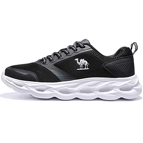 CAMELSPORTS Women Running Shoes Lightweight Fashion Sneakers Breathable Athletic Tennis Shoes Gym Exercise Shoe Black,7 W US
