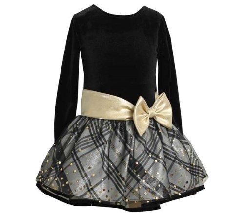 Women Denim Long Sleeve Dress Bow Sashes - 4