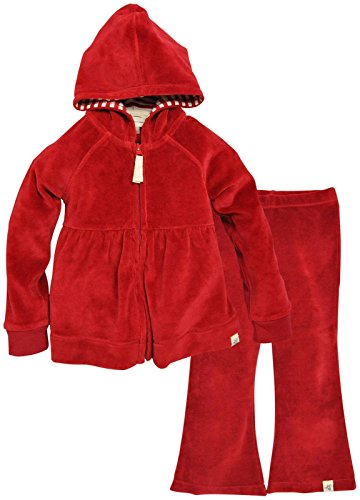 (Burt's Bees Baby Baby Girls' Hoodie and Pant Set -Cranberry-0-3 Months)