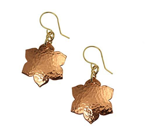 Hammered Copper Arabesque Flower -