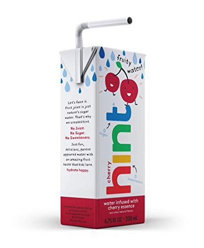 Hint Kids Water Cherry, (Pack of 8) 6.75 Fl Oz, Pure Water Infused With Cherry, Zero Sugar, Zero Calories, Zero Sweeteners, Zero Preservatives, Zero Artificial Flavors
