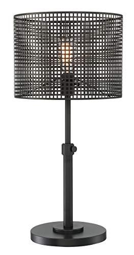 - Lite Source Hamilton Black Metal Grid 1-Light Table Lamp