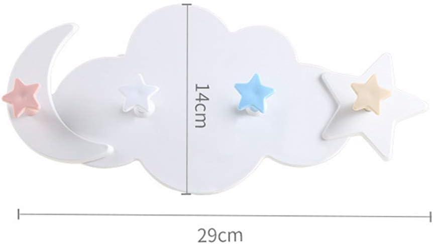 5lightrich Gancho Dom/éstico Forma De Nube Adhesivo De Estrella Ganchos para Ropa Bandeja Organizadora Jard/ín Perchas para El Hogar