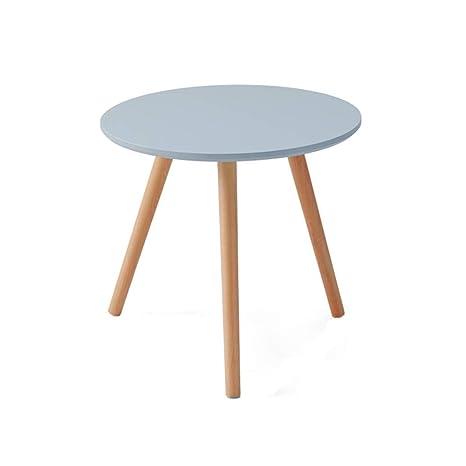 Amazon.com: HPLL Mesa auxiliar de madera para sofá, mesa ...