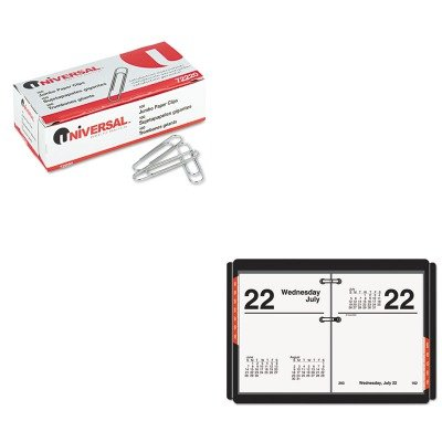 KITAAGE91950UNV72220 - Value Kit - At-a-Glance Recycled Compact Desk Calendar Refill (AAGE91950) and Universal Smooth Paper Clips (UNV72220) Compact Refill Kit