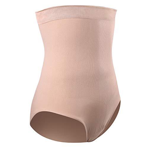 DREAM SLIM Women's High-Waist Seamless Body Shaper Briefs Firm Control Tummy Slimming Shapewear Panties Shaping Girdle Underwear (Nude, XL/XXL)