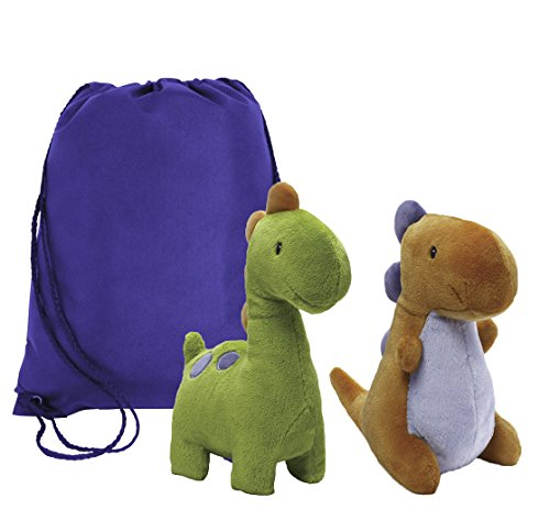 Gund Baby Ugg and Crom Dinosaur | Baby Stuffed Animal Plush Toy Dinosaur | With Reusable Drawstring (Book Character Costumes To Make At Home)