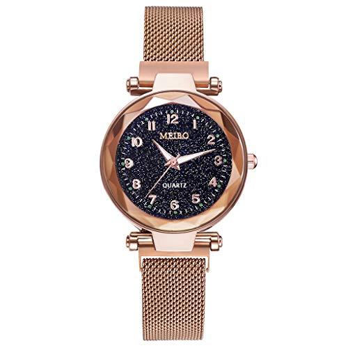 XBKPLO Analog Quartz Stainless steelwomen Quartz Watch Ladies Bling Wrist Watch crystalwomen Quartz Wrist Watches with Rose Gold Earring and Necklace 3quartz