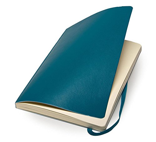"""Moleskine Classic Notebook, Soft Cover, Large (5"""" x 8.25"""") Dotted, Underwater Blue"""